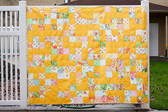 Dream On - Finished (Jeni Baker) Tags: modern project quilt handmade sewing quilting april finished stitching block projects quilts crafting 2011
