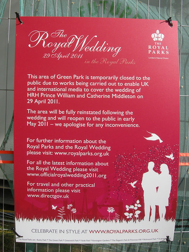 royal wedding england. Royal Wedding Sign from the UK