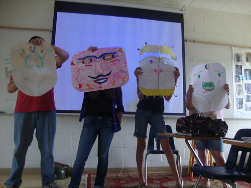 Chinese masks / skits / Magnet geography by trudeau