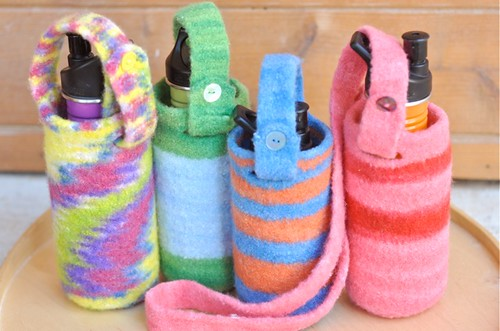 shop update :: felted water bottle carriers