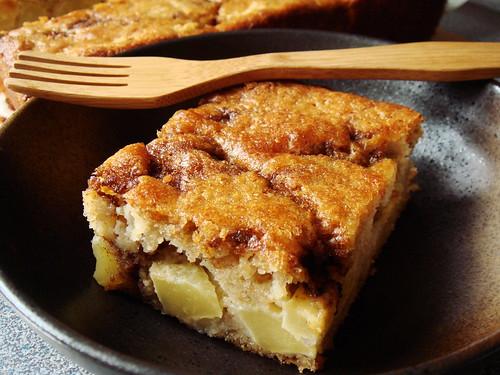 Apple Yogurt Cake with Cinnamon Sugar Streak