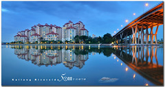 Singapore kallang riverside (fiftymm99) Tags: bridge reflection river lights singapore property housing condominium kallang sheares nikond300 fiftymm99 gettyimagessingaporeq2