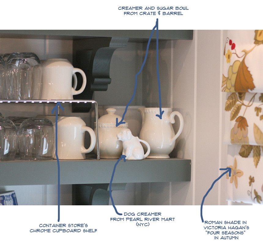 NOTES shelf detail dog creamer