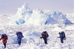 Crossing a Bad Zone (Weber Arctic Expeditions) Tags: ice richard misha weber northpole frostbite arcticocean polarexpedition malakhov wardhuntisland fischerskis polarbridge polartraining capearkticheskiy dimitrishparo shparo