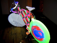 Electric Bicycle by Olek and Devan Harlan (SHOTbySUSAN) Tags: nyc newyorkcity ny newyork bike bicycle video susan stantonstreet olek onlyinnewyork shotbysusan agataoleksiak nycstudiogallery devanharlan yahoo:yourpictures=sculptures