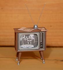 1:12 Scale Plastic 1950's TV