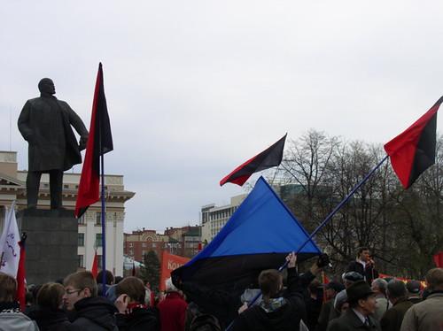 Анархисты на митинге 1 мая