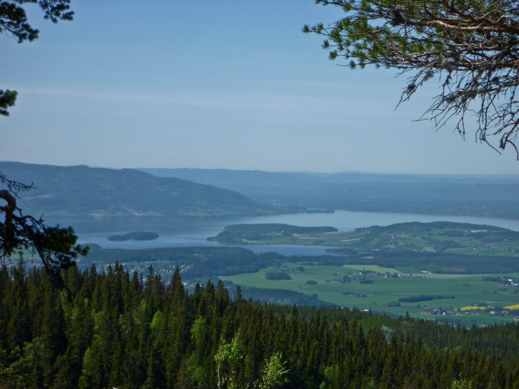 Utsikt fra Krokskogen mot Tyrifjorden
