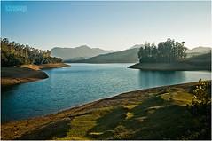 Emerald lake, ooty. (Sandeep Somasekharan) Tags: blue sunset lake landscape island nikon dam sandy hills nikkor ooty goldenhour emeraldlake nilgiris catchment 18135 d300s sandeepsomasekharan sandyclix
