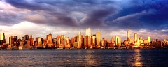 New York City (mudpig) Tags: city nyc newyorkcity longexposure sunset ny newyork storm reflection skyline geotagged gold newjersey cityscape dusk timessquare esb bankofamerica hudsonriver empirestatebuilding gothamist chryslerbuilding hdr hoboken newyorktimes unionhill mudpig stevekelley