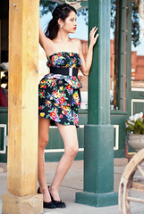[フリー画像] 人物, 女性, ドレス, ファッション, アメリカ人, 201105100900