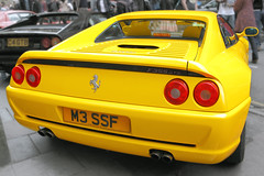 Ferrari F355 GTS, Pininfarina, rear detail, c1994 (Chappells10) Tags: cars car ferrari classiccars yellowferrari thoroughbreds maranello pininfarina carphotos italiancars voituresanciennes worldcars ferrariferrarif355gtscarcarsbristolitalianitalyitaliancarsunfoundsportscarsrarecarscanoneos5dmkiibristolshow