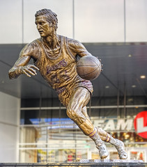 The Logo (Candice, AKA Bessie Smith) Tags: statue losangeles downtown lakers hdr staplescenter jerrywest thelogo