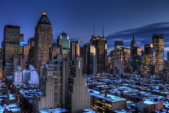 Blue Hour at Midtown Manhattan – A Crystal Wonderland – Reprocessed with Photomatix