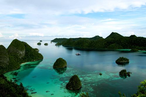 Beautiful view of Raja Ampat Islands