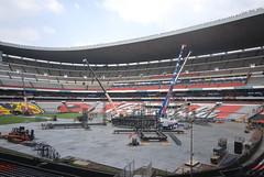 Tercer día de montaje - Estadio Azteca 26
