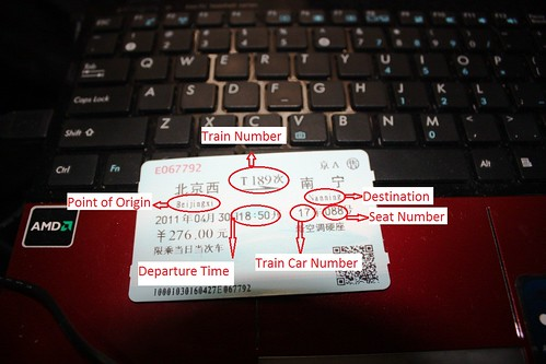 Train Ticket to Nanning