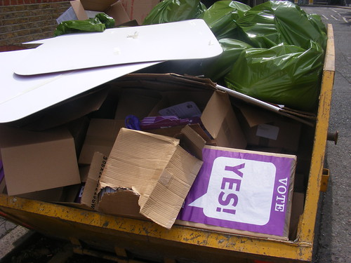 The morning after: #yes2av literature in the skip