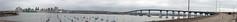 A Bridge Across the Bay (ewen and donabel) Tags: bridge panorama marina sandiego coronado bridgewalk
