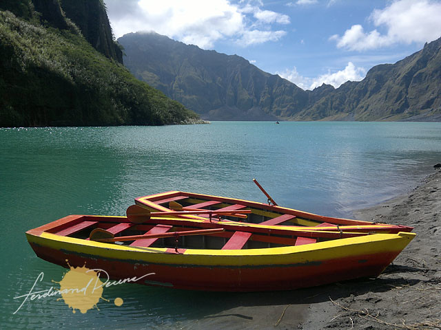 Mt Pinatubo Crater and Boats