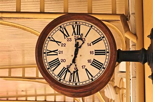 It's time for boarding - Station clock Jaguariúna (SP)
