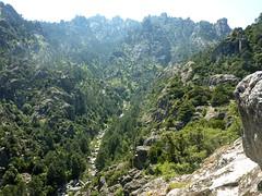 Sur le sentier du Tavignanu en RG : le fond des gorges