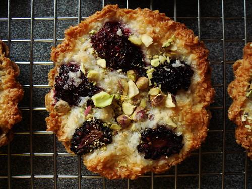 Blackberry & Coconut Macaroon Tart