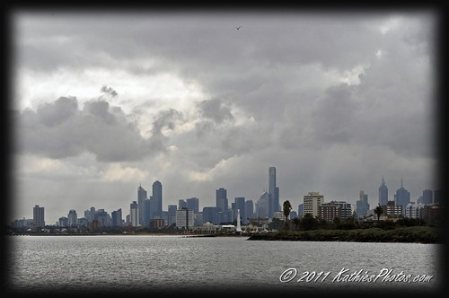 The city view from Elwood Foreshore