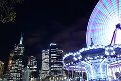 (dmh photography) Tags: wheel night lights exposure melbourne ferris