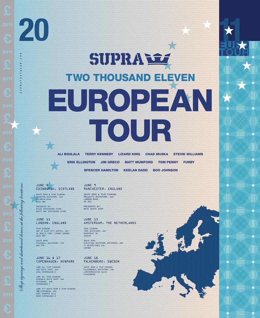Supra 2011 European Tour.