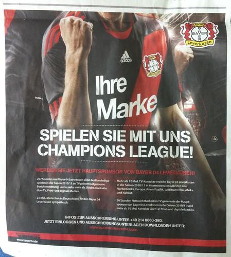 Bayer 04 Leverkusen: Spielen Sie mit uns Champions League