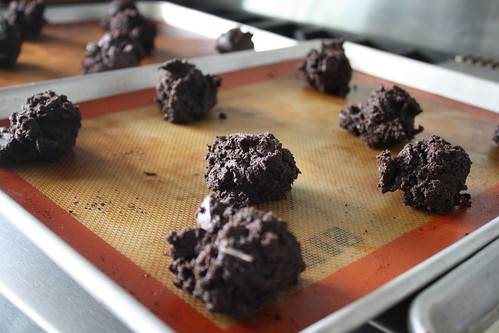 Chocolate and fresh mint cookies