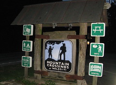 Mountain Crossings sign