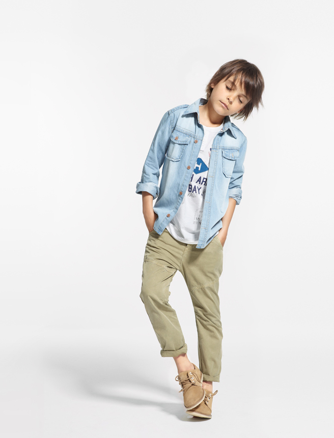 kids posing in clothes