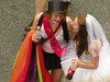 Getting married! (Lanterna) Tags: nyc gay love lesbian happy groom bride costume women pride romance historic marriageequality marchers samesexmarriage 2011 outandproud