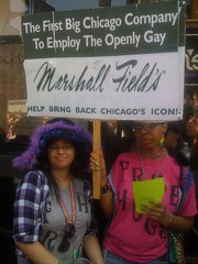 Shades of Happy Purple, Pink & Green! (hoopsmckay) Tags: chicago pride macys marshallfields 2011 chicagopride2011