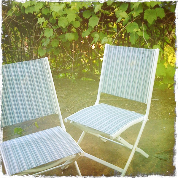 deck chairs & vines