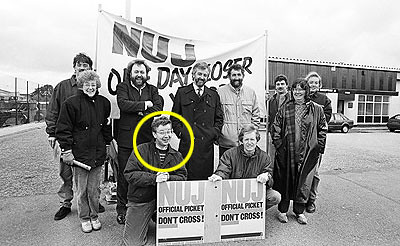 gove on picket line