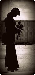 Mourning Glory (BlackAndBlueBeauty) Tags: woman rose metal montana butte sad mourning glory uptown