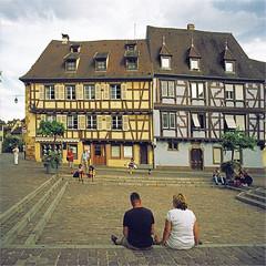 colmar (thomasw.) Tags: colmar elsass alsace france frankreich francia europe europa travel street mamiya 120 mf analog cross crossed