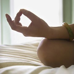 Young woman meditating. (Passive Income Dream.com) Tags: woman house color home yoga closeup female square relax asian bed bedroom hands women meditate sitting hand finger fingers chinese relaxing lifestyle indoors health meditating thumb recreation meditation relaxation knee fitness youngadult bodypart oneperson lotusposition midadult realpeople 2530years lotuspose lifestylesandart