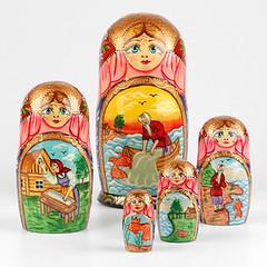 Fairytale of Golden Fish Nested Doll (The Russian Store) Tags: matrioshka matryoshka russiannestingdolls  stackingdoll  russianstore  russiangifts  russiancollectibledolls shoprussian