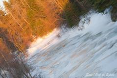(Sous l'Oeil de Sylvie) Tags: winter sunset tree ice pentax hiver qubec arbre fonte goldenhour coucherdesoleil glace beauce glac k7 dgel ruisseau notredamedespins 55300mm sousloeildesylvie