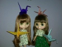 Blythe of the World: 1000  Cranes for  Japan