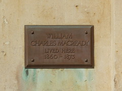 Photo of William Charles Macready bronze plaque