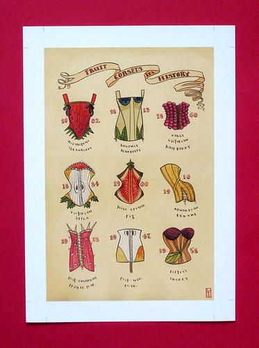 fruit corset giclee print