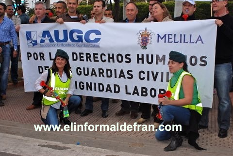 Primera Protesta de la Guarcia Civil en Melilla