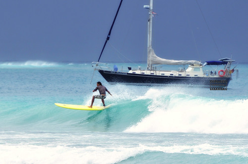 Riding the Waves - Pigeon Point, Tobago