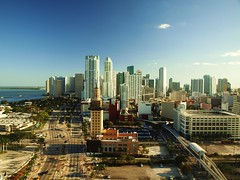 Miami Skyline (al-absi) Tags: sea skyline marina downtown florida miami olympus bayside fl    1442mm   e620