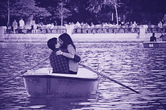 It could be wrong, could be wrong. Let our hearts ignite... (Kill my s0ul) Tags: madrid boy lake love water girl boat spain kiss romance retiro